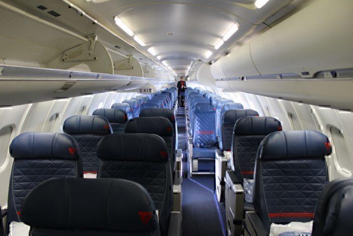 Delta Connection CRJ900 Interior