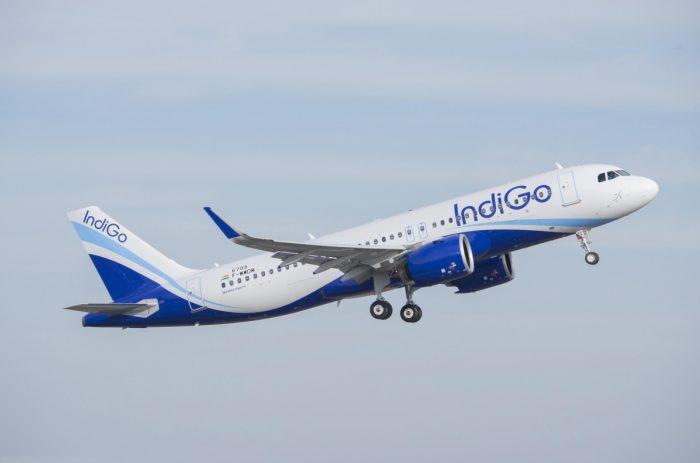 IndiGo takeoff Airbus