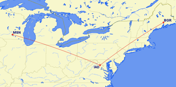 United new routes