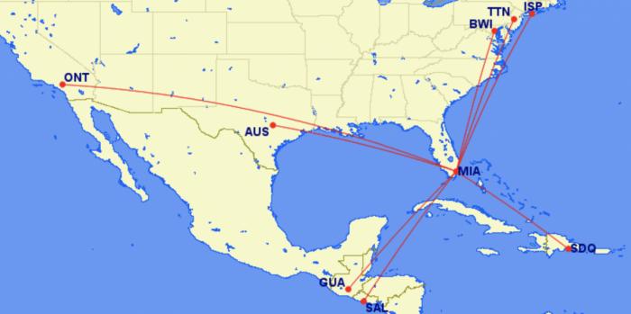Miami new routes in 2020