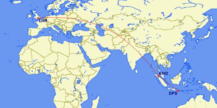 Garuda London routing
