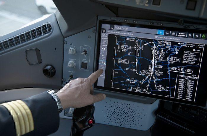 A350 Cockpit Touchscreen
