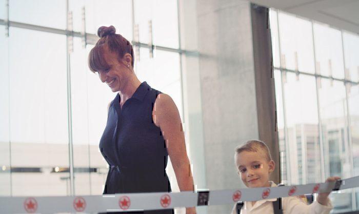 A Air Canada quer que as crianças sintam a aventura. Foto: Air Canada