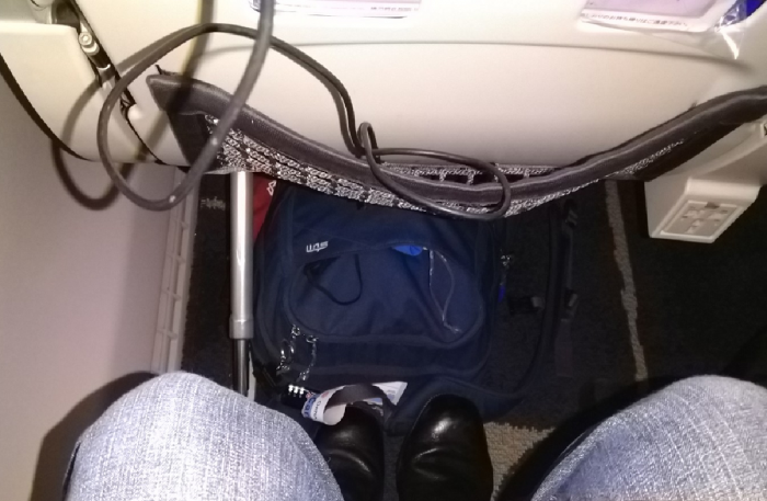 Economy class leg room on board China Airlines Airbus A350