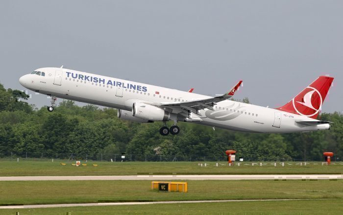 Turkish Airlines jet take-off