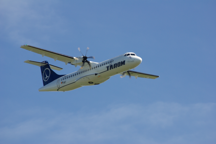 An ATR 72-500 of the romanian airlines