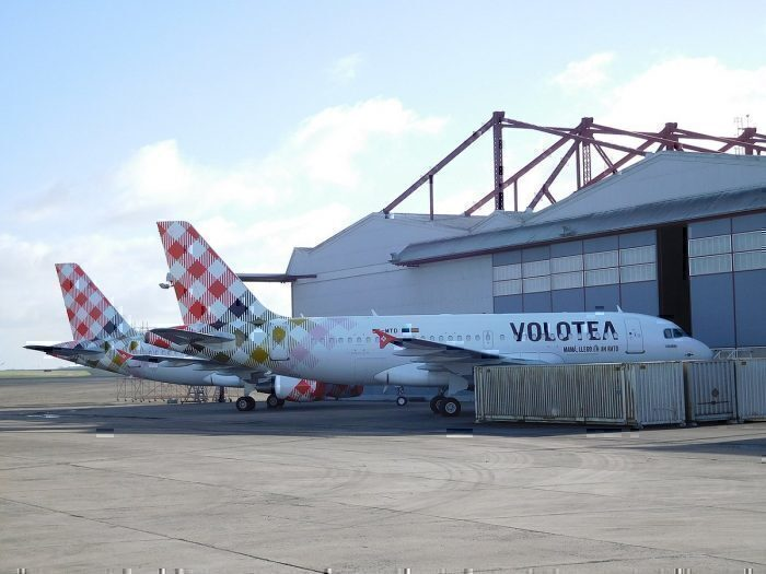 Two Airbus A319 Aircraft in Volotea Livery
