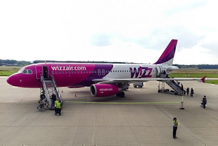 Wizz Air Airbus boards passengers