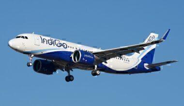 Indigo A320neo in the air
