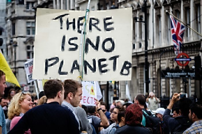 There is no planet B, sign, environment protest