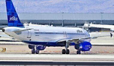 JetBlue taxiing on runways