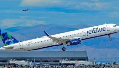 JetBlue A321 take-off