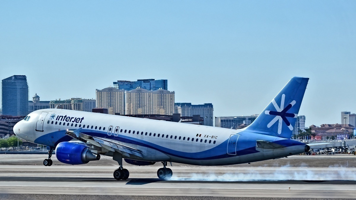 Interjet lands in Las Vegas