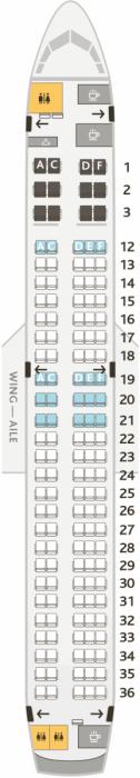 Air Canada seat map