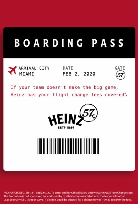 Heinz, Flight Changes, Super Bowl