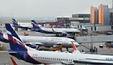 Aeroflot fleet airport