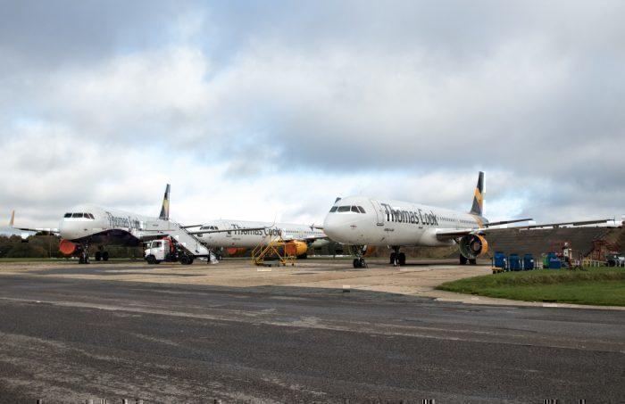 Thomas Cook aircraft stored
