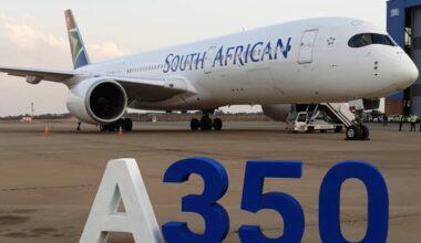 SAA Airbus A350 Aircraft