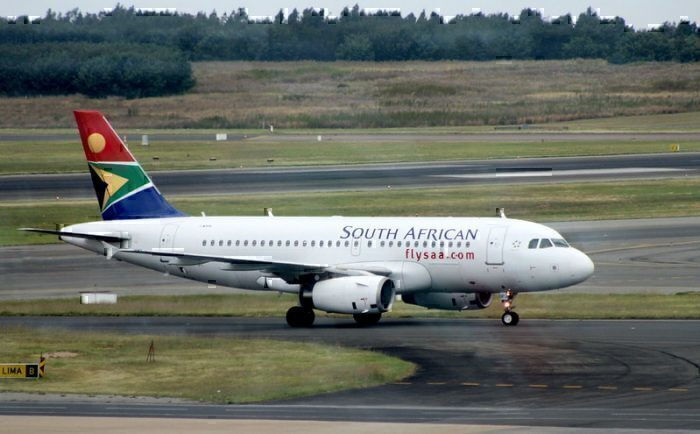 South African Airways A319-132 ZS-SFJ
