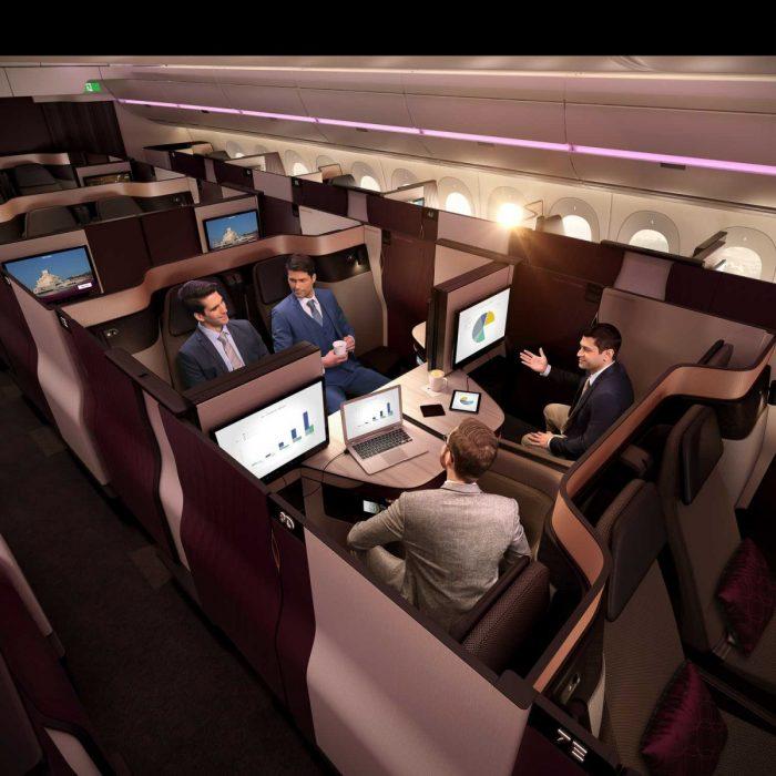 Qatar Airways Qsuite Quad