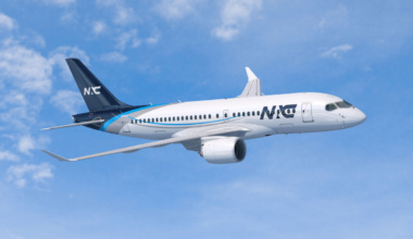 Render of Nordic Aviation Capital Airbus A220