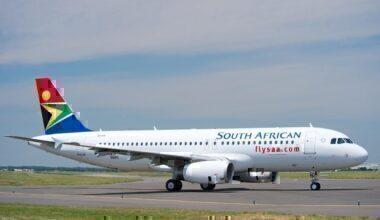 south african airways SAA plane airbus