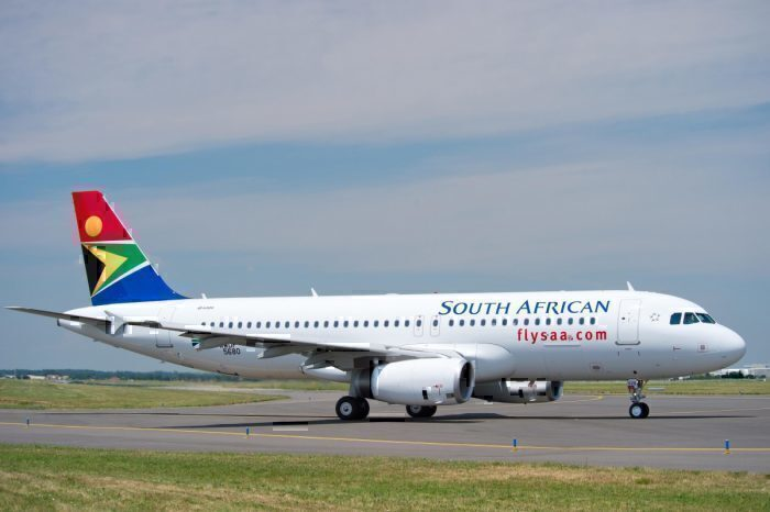 south african airways SAA plane airbus