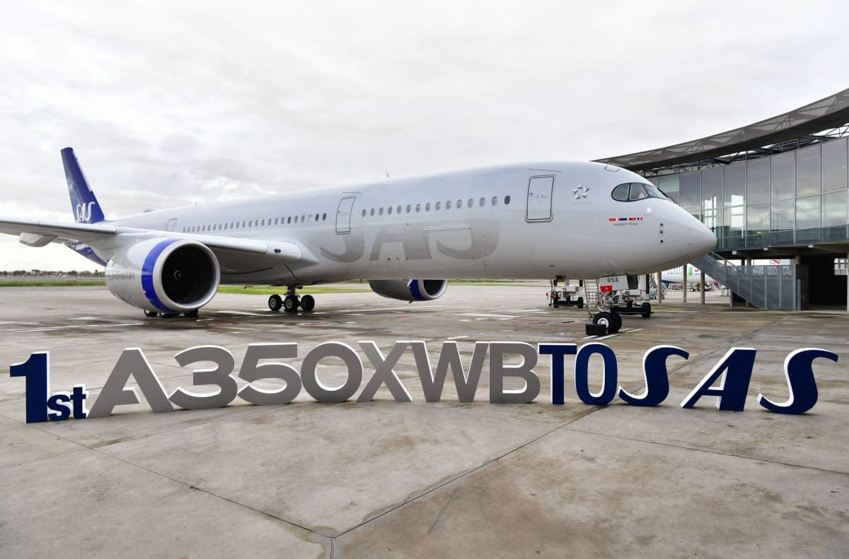 SAS, Airbus A350 delivery
