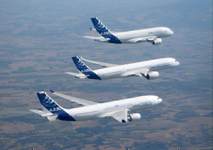 Airbus widebody flight