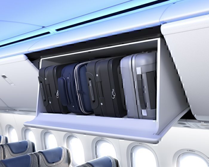 777X Passenger Overhead Bins