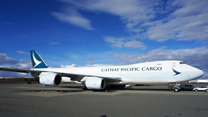 Cathy cargo plane