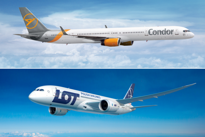 Condor, Sale, LOT Polish Airlines