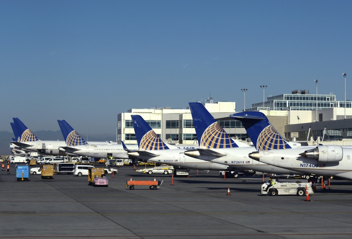 Parked United Aircraft