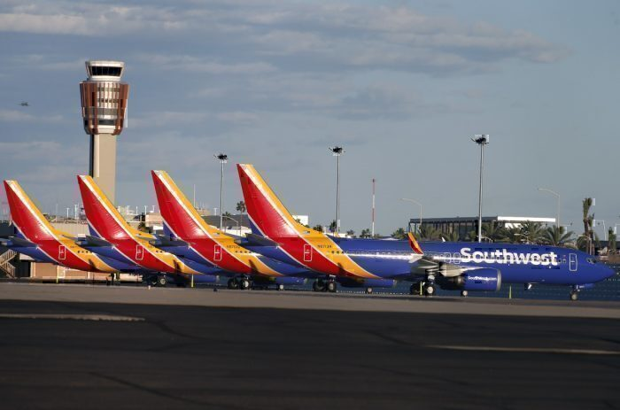 Southwest airlines grounded boeing 737 MAX getty Images