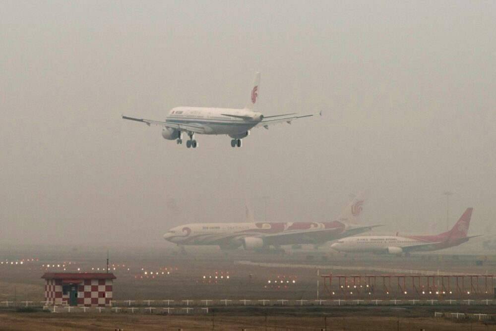 Air pollution at airport china