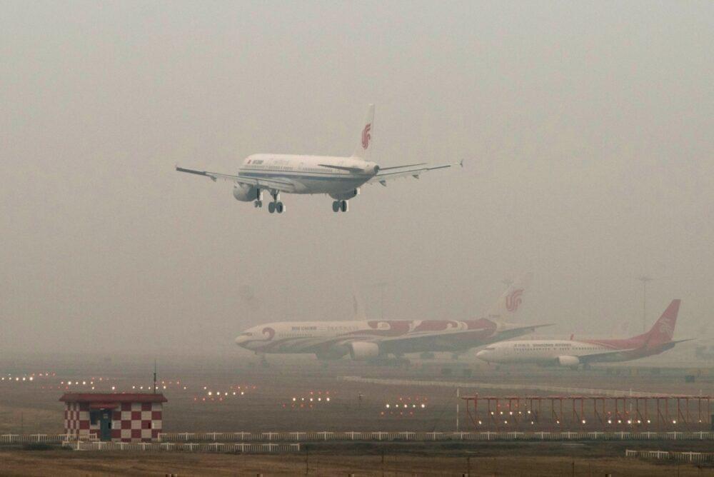 Air pollution at China airport