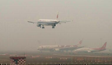 Air pollution at airport china