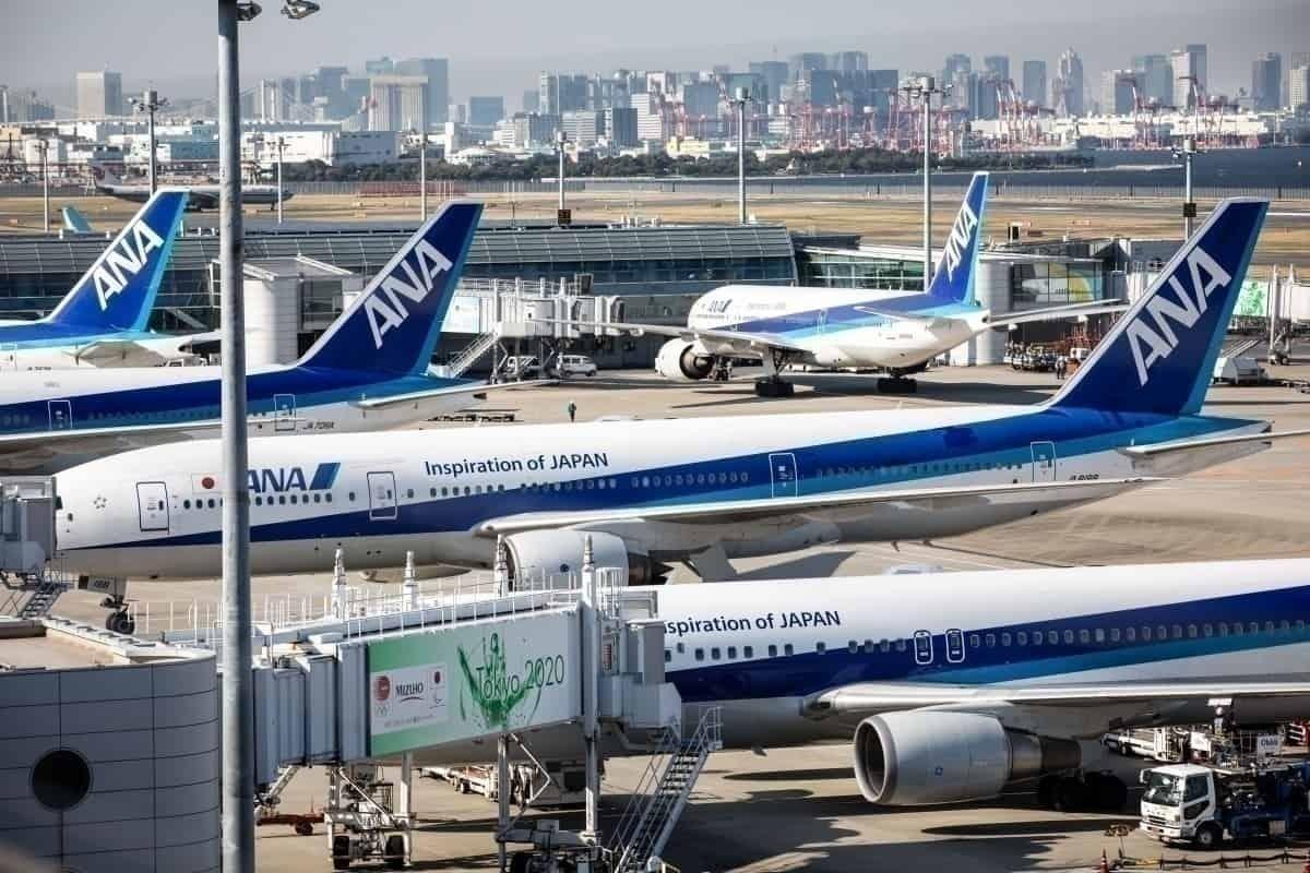 ANA aircraft at Tokyo Airport
