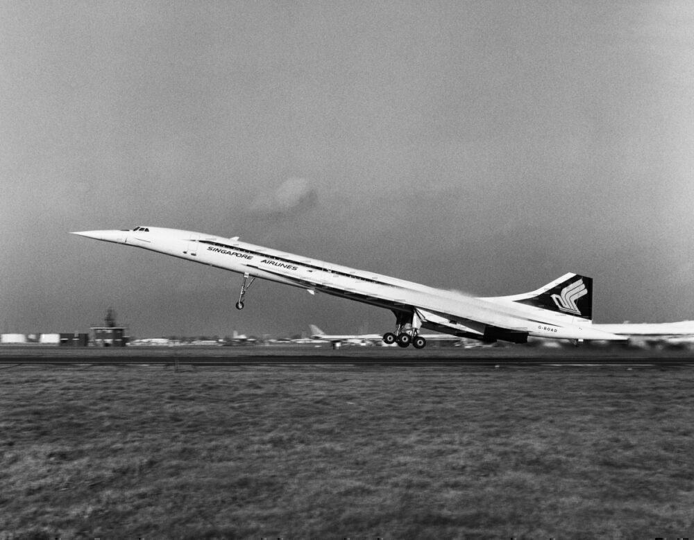 Getty Concorde in Singapore Airlines livery