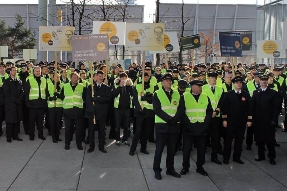 Lufthansa Pilot strike getty images