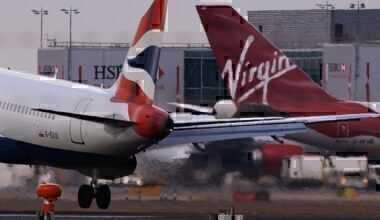 Virgin Atlantic, On Time Performance, British Airways, Ryanair, easyJet, Aer Lingus