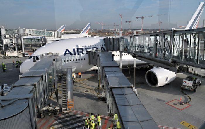 Air France A380 boarding
