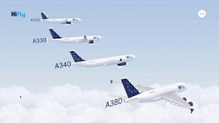 Hi Fly Airbus fleet