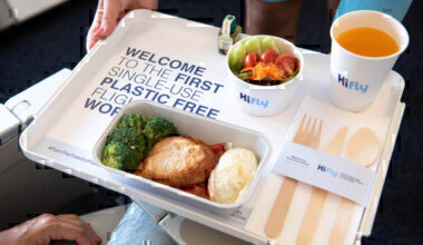 From 1st January 2020, all Hi Fly's flights are plastic free