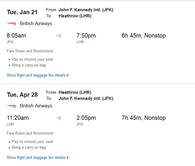 Expedia flight schedules JFK