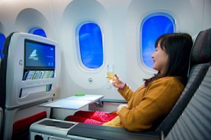 Bamboo Airways 787 premium economy cabin