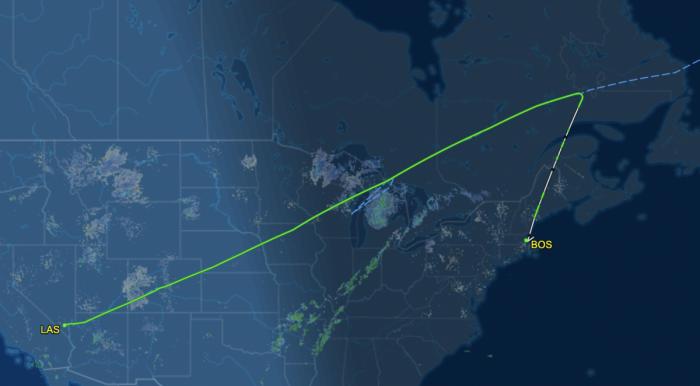flight path of dl148