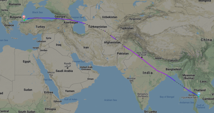 A Thai Airways Diversion Marks The First Airbus A380 Landing At Istanbul Airport