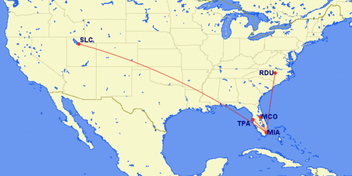 Delta New Miami Routes