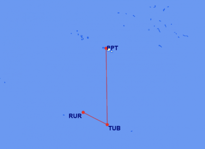 Air Tahiti Flightpath